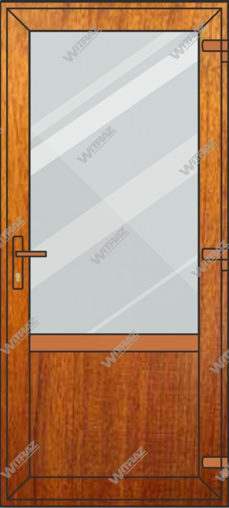 PVC entrance doors - glass + PVC