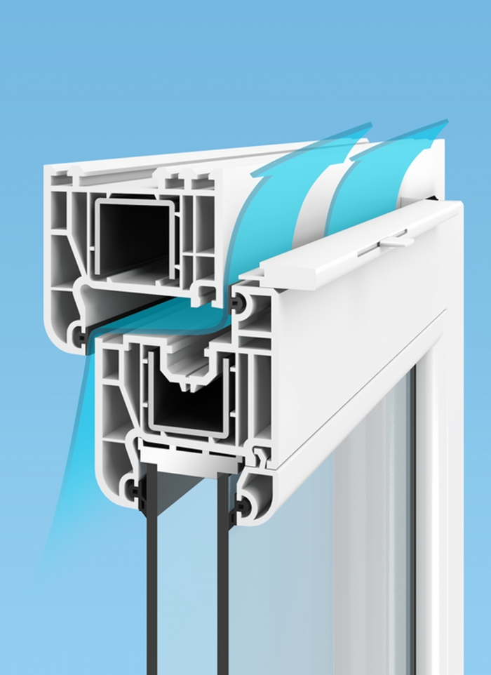 Plastic (PVC) windows - Ventilation system Air-Box Comfort