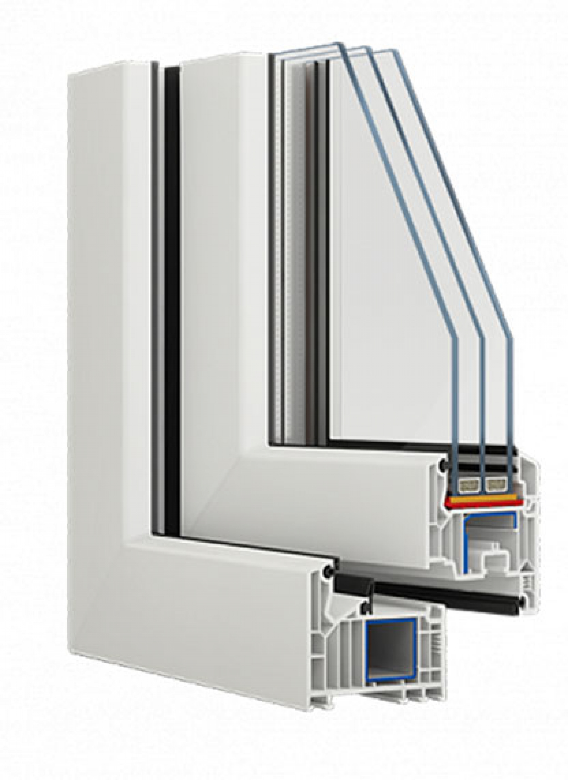 Plastic (PVC) windows - Softline 82