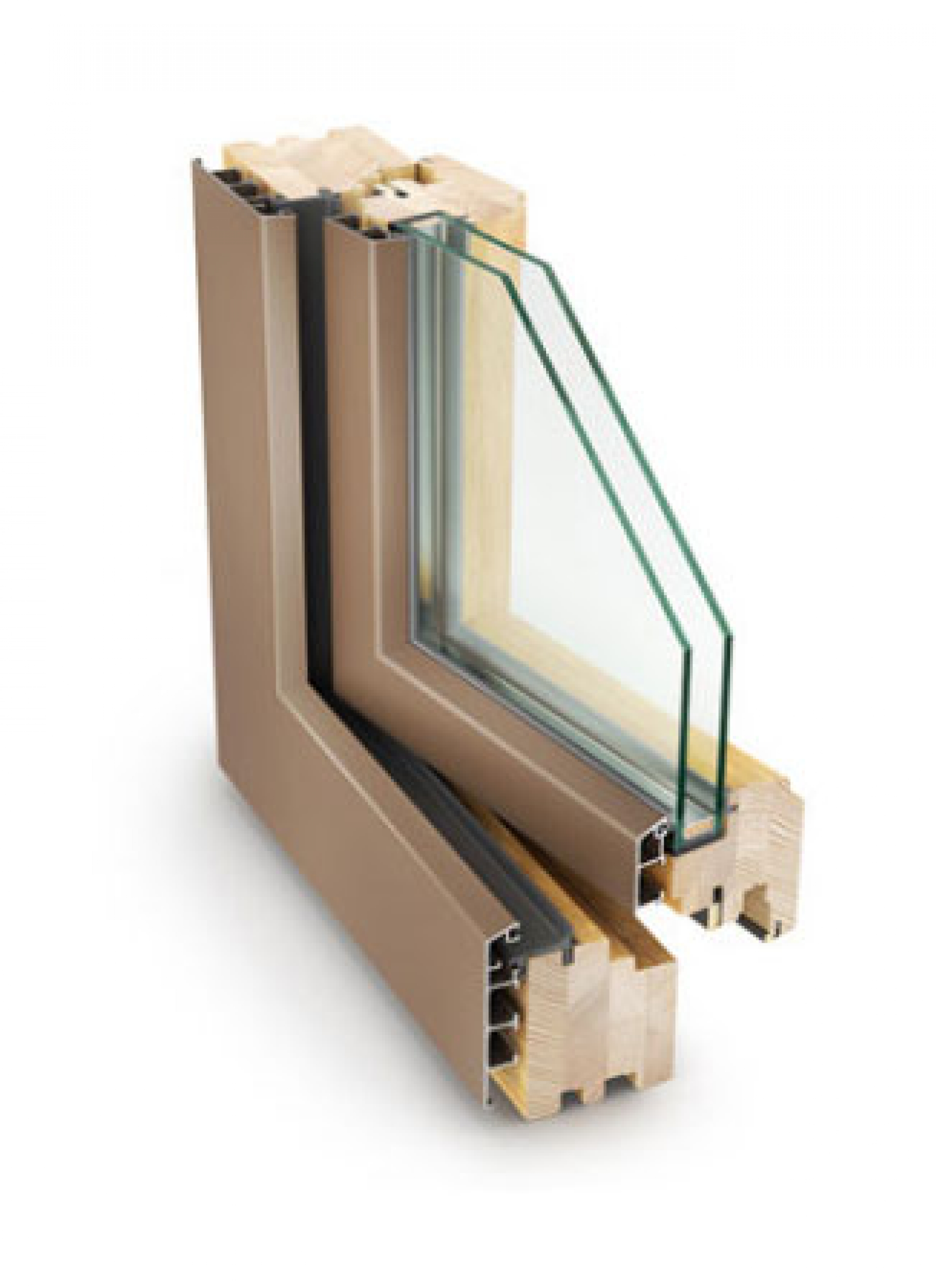 Wood-aluminium windows - Wood-aluminium 68 mm